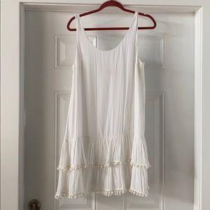 Lilly Pulitzer white Natashia Pom Pom dress